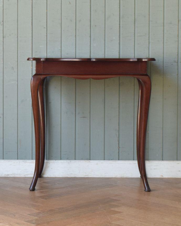 q-830-f アンティークオケージョナルテーブル(ティーテーブル)の後ろ