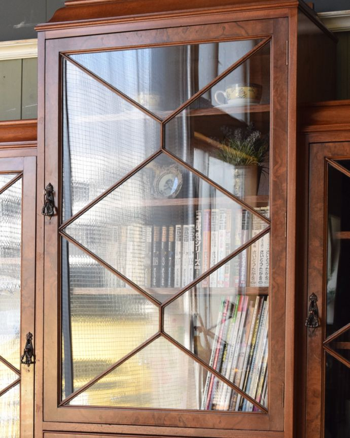 q-855-f アンティークブックケースのガラス