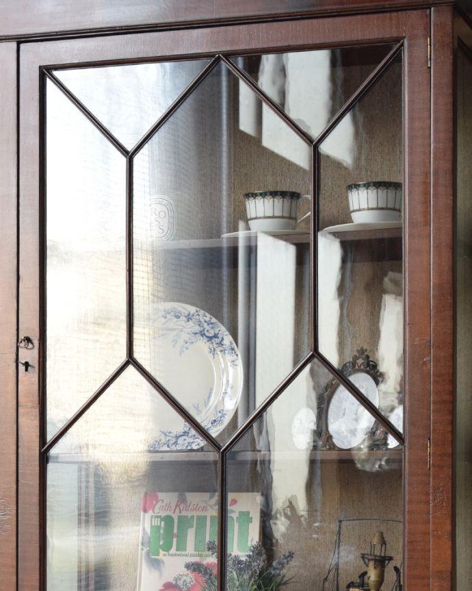 q-859-f アンティークブックケースのガラス戸