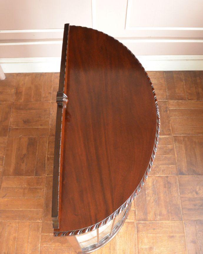 q-864-f アンティークガラスキャビネットの天板