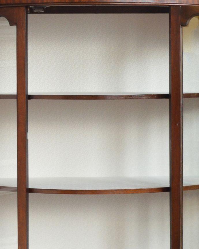 q-864-f アンティークガラスキャビネットの棚板