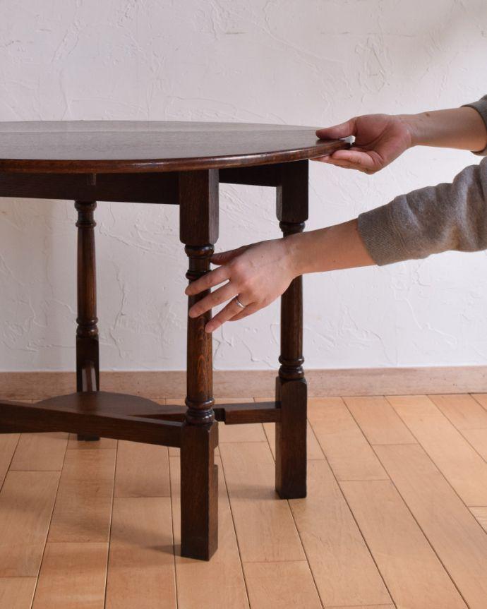 q-885-f アンティークゲートレッグコーヒーテーブルの組み合て