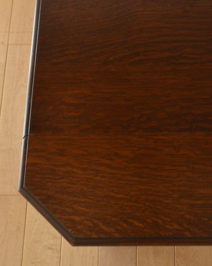 q-905-f アンティークバタフライコーヒーテーブルの角