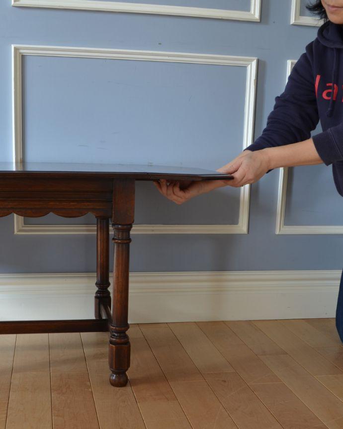 q-905-f アンティークバタフライコーヒーテーブルの組み立て