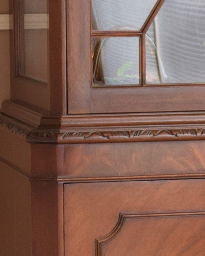 q-919-f アンティークガラスキャビネットの装飾