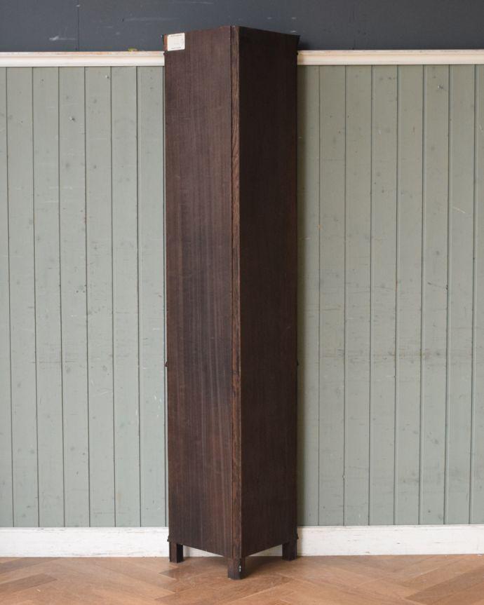 x-932-f アンティークアーコールコーナーキャビネットの後ろ