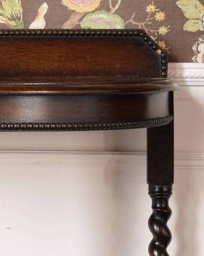 q-936-f アンティークコンソールテーブルの装飾