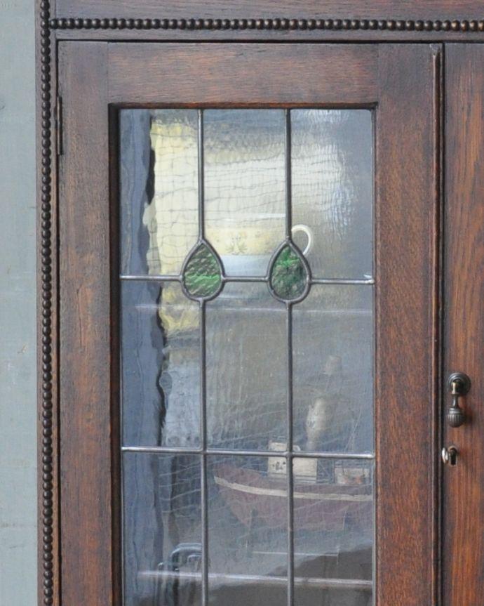 q-952-f アンティークブックケースのガラス戸