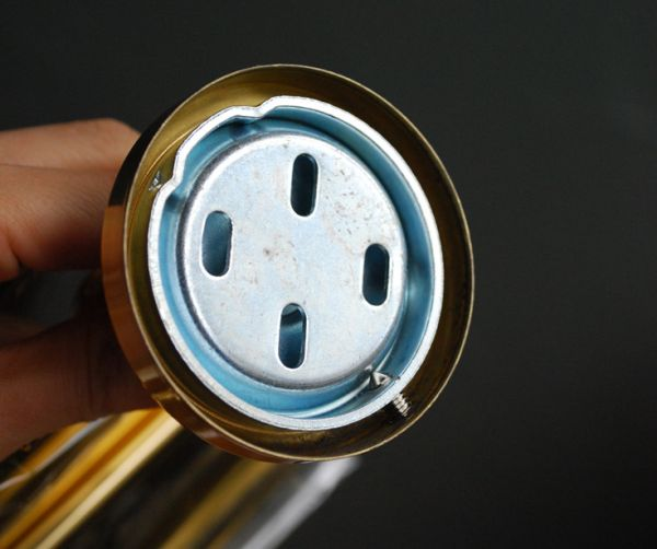 洗面・トイレ 住宅用パーツ 陶器×真鍮ペーパーホルダー (ゴールド)。土台の中はこんな風になっています。(sa-220)
