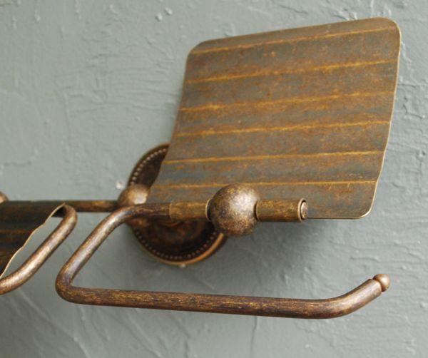 真鍮ペーパーホルダー(ダブル・アンティーク色)のバー