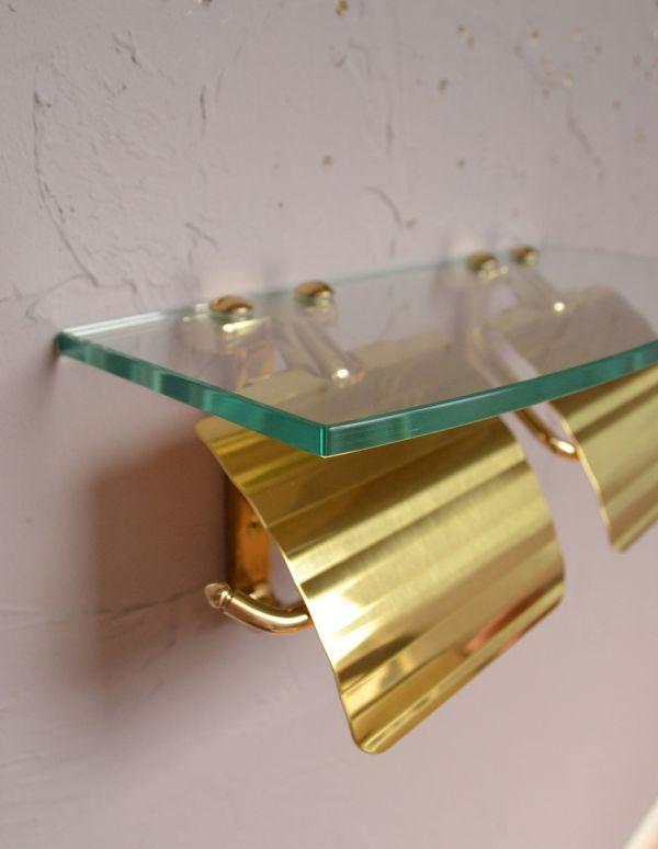 sa-231 真鍮ペーパーホルダー(ダブル・ゴールド)のアップ