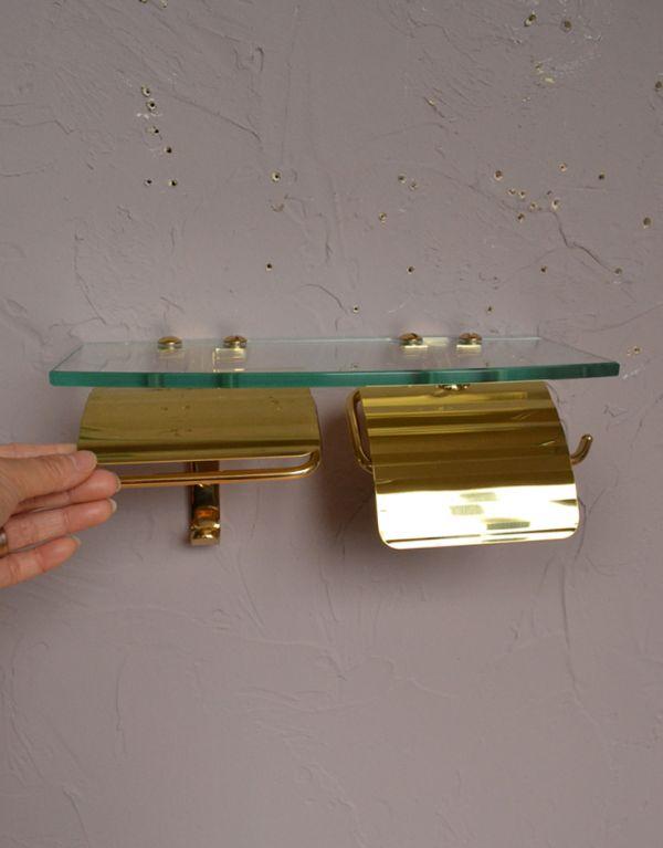 sa-231 真鍮ペーパーホルダー(ダブル・ゴールド)の手入り