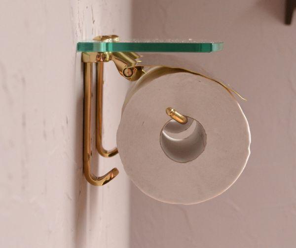 sa-231 真鍮ペーパーホルダー(ダブル・ゴールド)の横