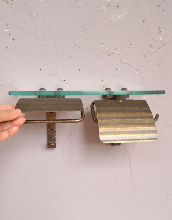 sa-232 真鍮ペーパーホルダー(ダブル・アンティーク色)のアップ