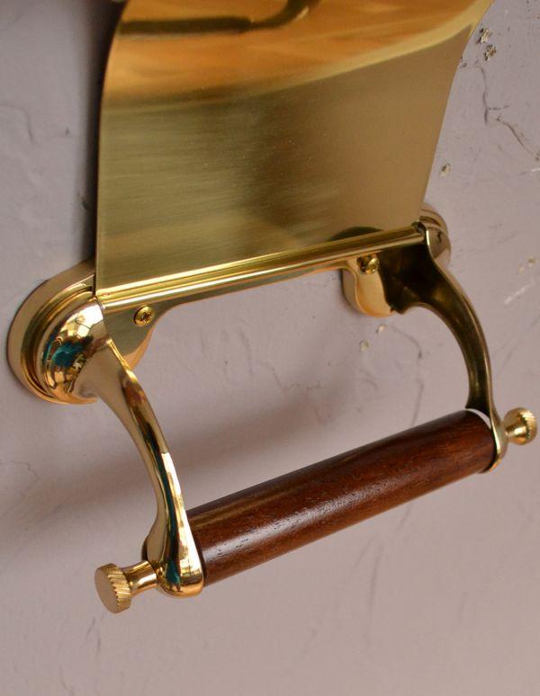 sa-237 トイレットペーパーホルダー(ゴールド)のアップ
