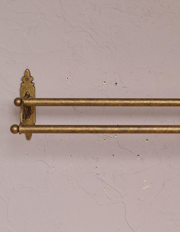 sa-621 真鍮ダブルタオルバーのアップ