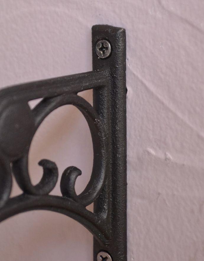 洗面・トイレ 住宅用パーツ お洒落なサニタリーアイテム、真鍮製ダブルタオルバー(ブラック)。4ヶ所ビスで留めてお使い下さい。(sa-634)