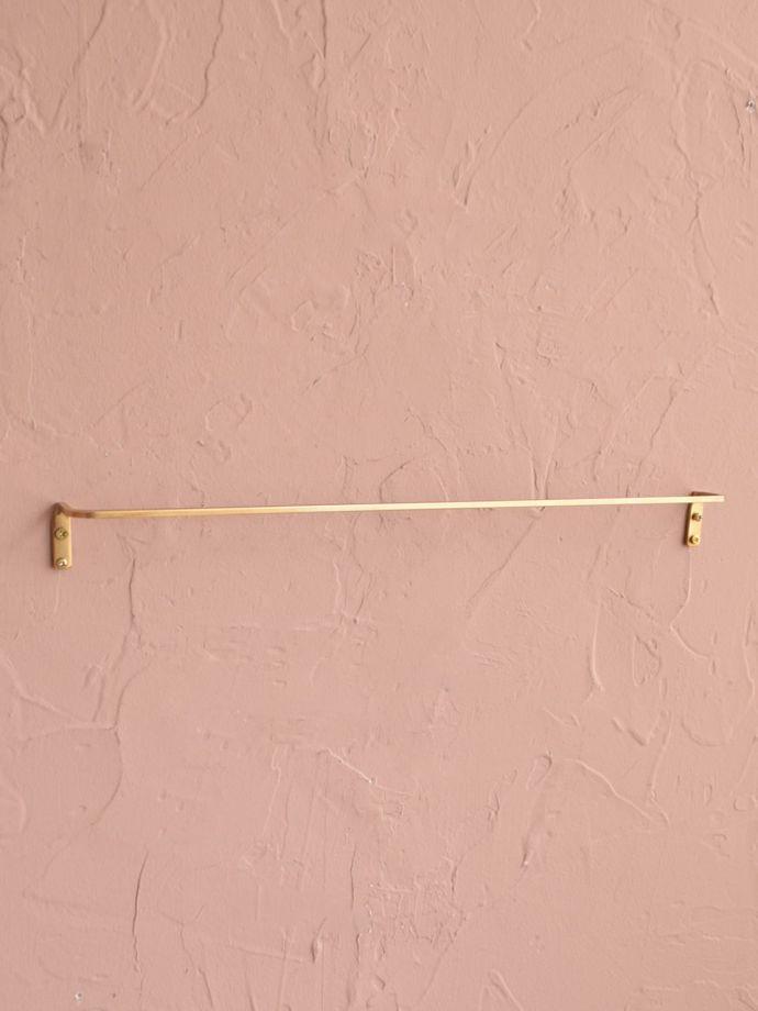 真鍮製のタオルハンガー