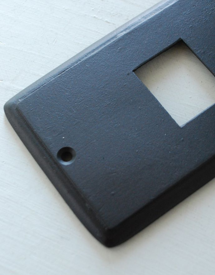 スイッチ・スイッチカバー 住宅用パーツ 外国風お洒落な真鍮スイッチカバー(ブラック・シングルタイプ)。※ワイドスイッチには対応していません。(sc-02-a)
