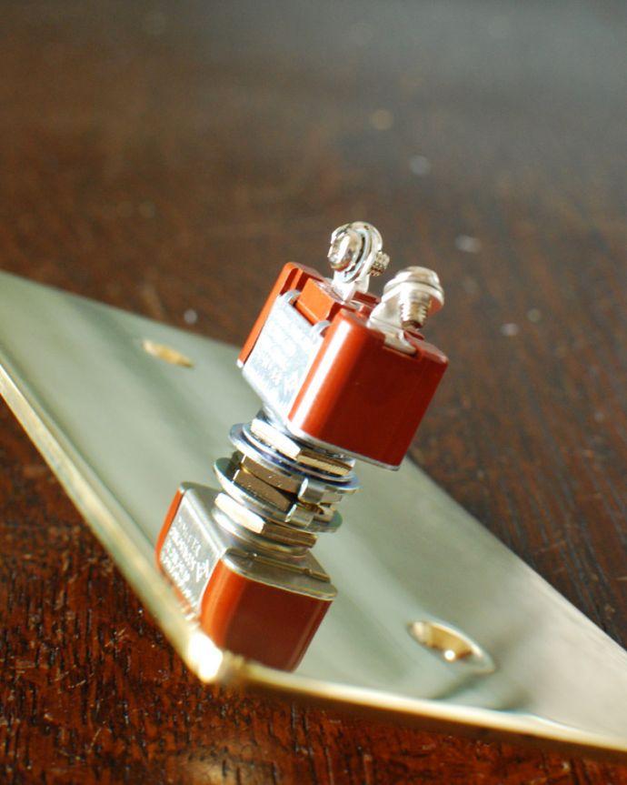 スイッチ・スイッチカバー 住宅用パーツ 真鍮プレートスイッチ。裏面はこんな感じ。(sw-08)