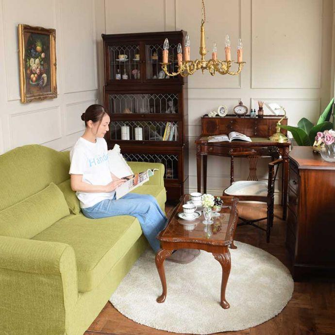 英国アンティークの家具に似合うソファ(ハーブ)