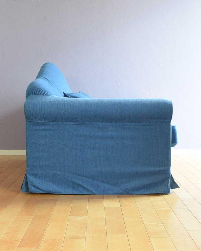 ソファの側面