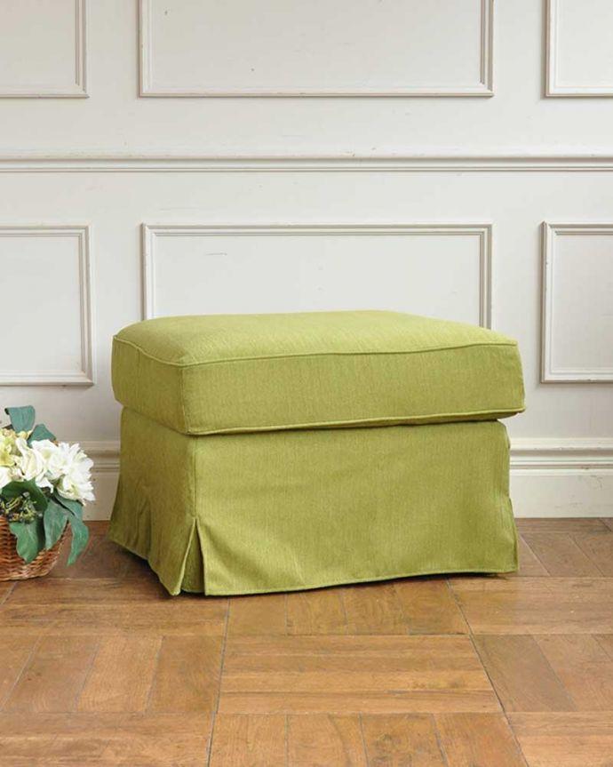 アンティーク風の椅子 アンティーク風 お家の洗濯機で洗えるHandleオリジナルスツール 4.ハーブ。(test-h-3)