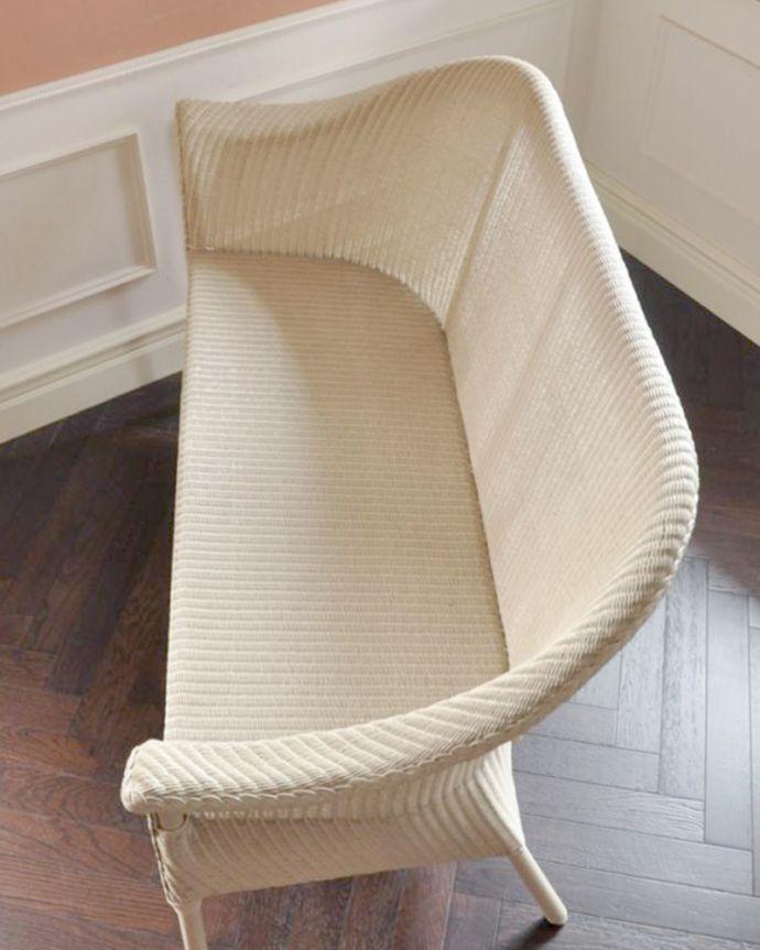Handleオリジナル アンティーク風 ロイドルームの椅子、8色から選べるHandleオリジナルのロイドルームソファ。クッションを外すと・・・紙とワイヤーでしっかり編み上げてある座面は、長年、使用して頂けます。(hol-07)