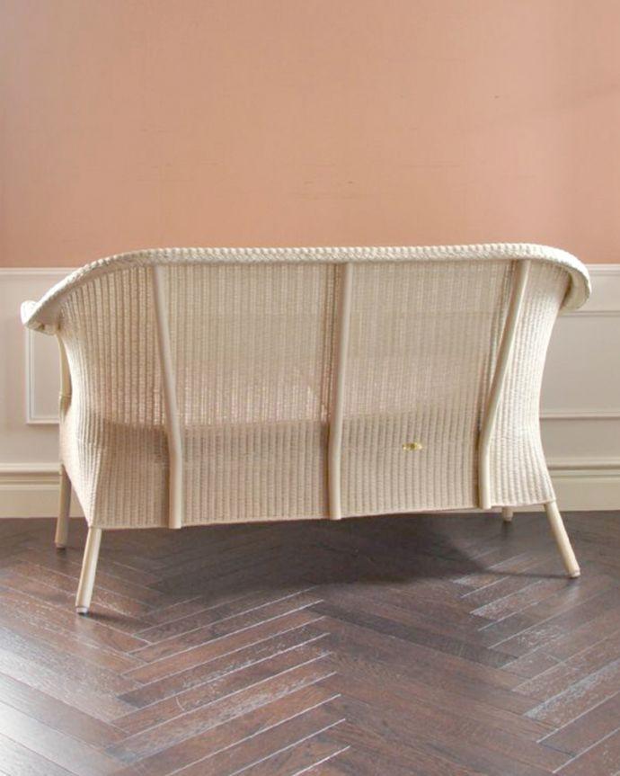 Handleオリジナル アンティーク風 ロイドルームの椅子、8色から選べるHandleオリジナルのロイドルームソファ。後ろ姿も可愛い後ろから見るとこんな感じです。(hol-07)