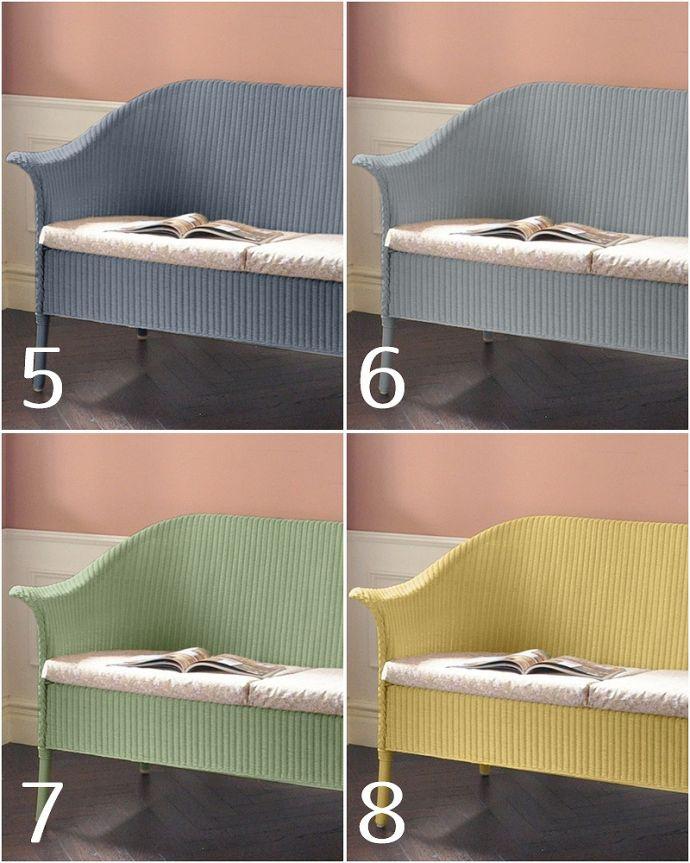 Handleオリジナル アンティーク風 ロイドルームの椅子、8色から選べるHandleオリジナルのロイドルームソファ。5.ドリーマーズティー (Dreamer's tea)6.ベビーブルー (Baby blue)7.ハーブティー (Herb tea)8.バター&シュガー (Butter&Suger)※クッションの生地は選べます。(hol-07)