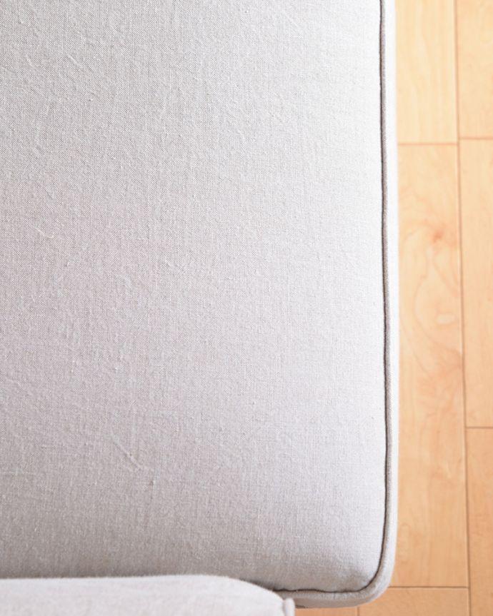オリジナルソファ アンティーク風 お家の洗濯機で洗えるHandleオリジナルのリネンソファ。しなやかで柔らかいリネン使えば使うほどに柔らかく、風合いを増すリネンにこだわりました。(hos-100)