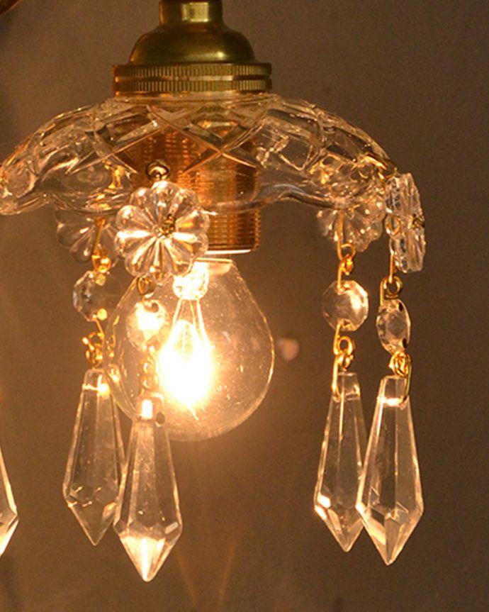 Handleオリジナル 照明・ライティング Handleオリジナルガラス皿のウォールシャンデリアF(丸球付・ギャラリーなし)。LEDも使えます口金は日本球仕様のE17型、100Wまで対応しています。(wr-095g-o)