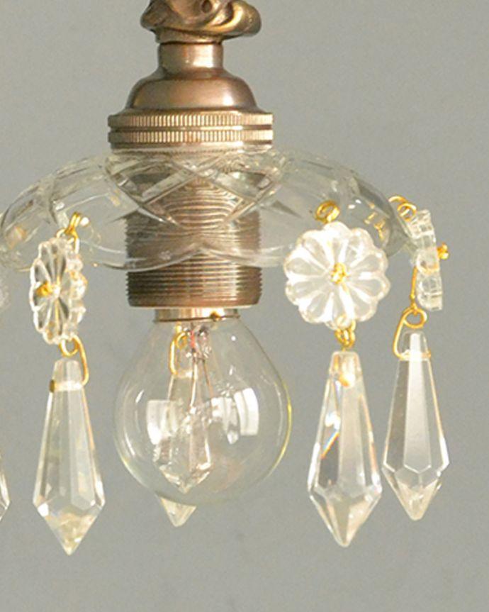 Handleオリジナル 照明・ライティング Handleオリジナルガラス皿のウォールシャンデリアG(アンティーク色・丸球付・ギャラリーなし)。1つ1つ手作りしていますシェードはアンティークと同じように、細い真鍮のピンを曲げて、一つ一つガラスのパーツを手作業で取り付けています。(wr-096a-o)
