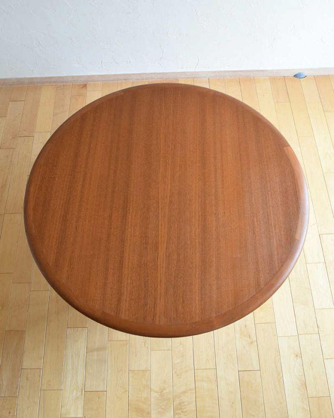 アンティークのテーブル アンティーク家具 座卓としても使えるヴィンテージ家具、北欧スタイルのコーヒーテーブル。上から見るとこんな感じ。(x-1012-f)