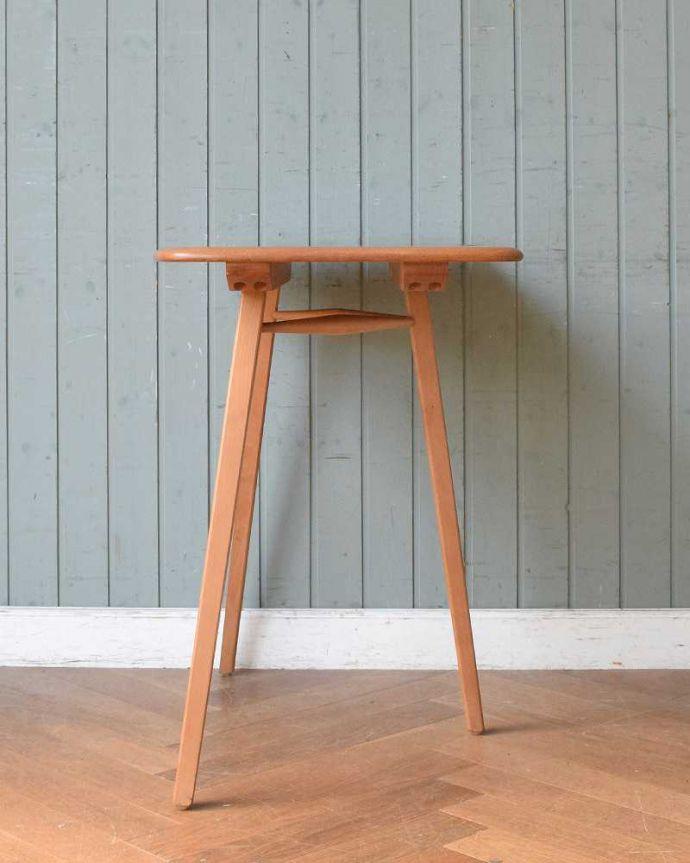 アンティーク家具 アーコールのダイニングテーブルの継ぎ足し用のエンドテーブル(サイドテーブル)。クルッと回転。(x-1058-f)