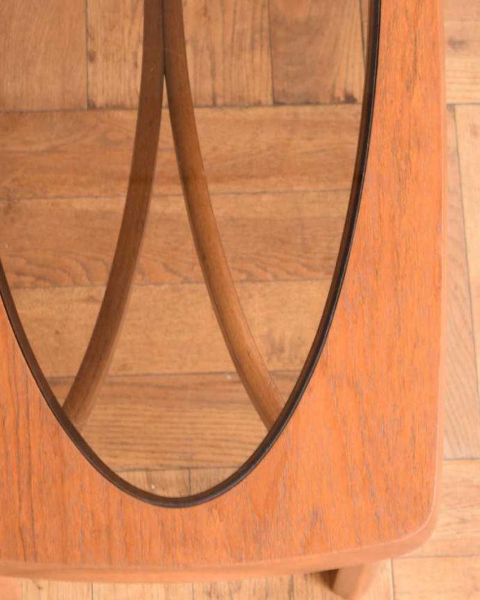 x-1177-f  アンティークオケージョナルテーブルの天板ズーム