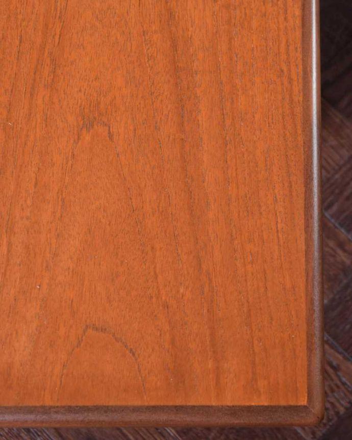 x-1209-f  アンティークオケージョナルテーブルの天板ズーム