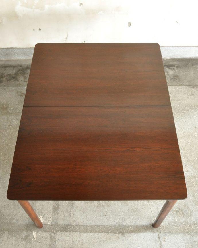 x-1239-f ビンテージダイニングテーブルの天板(閉じた状態)