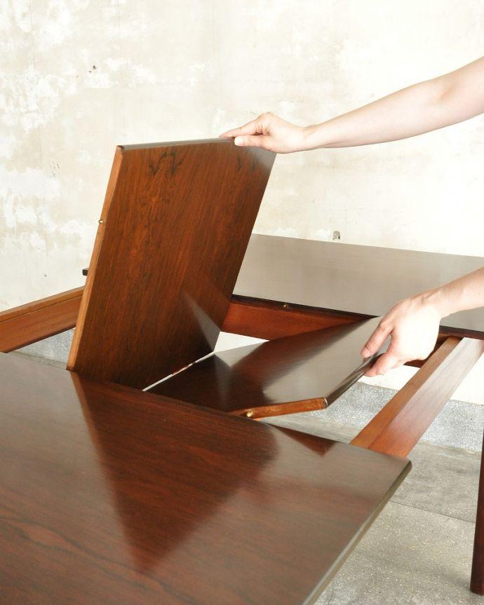 x-1239-f ビンテージダイニングテーブルの伸張方法
