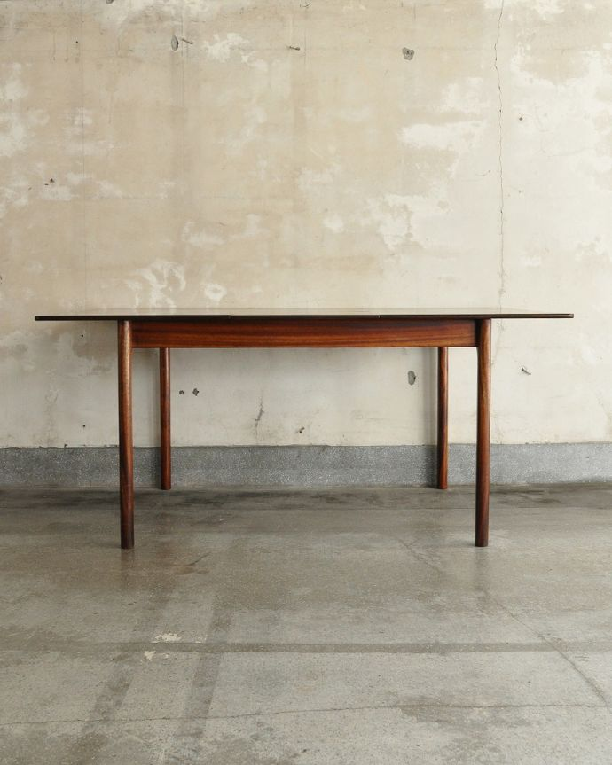 x-1239-f ビンテージダイニングテーブルの横(開いた状態)