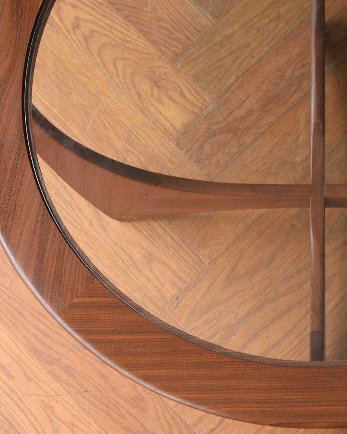 x-1262-f  アンティークオケージョナルテーブルの天板ズーム