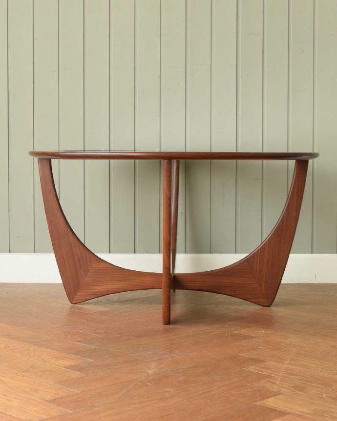 x-1262-f  アンティークオケージョナルテーブルの横