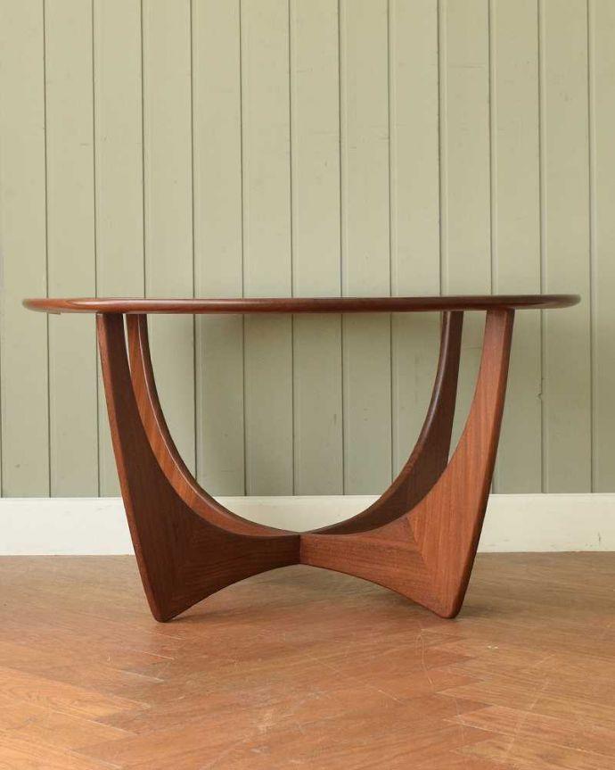x-1262-f 英国アンティークコーヒーテーブルの後ろ