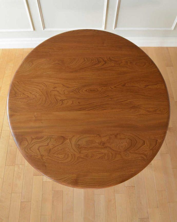 折り畳みテーブルの丸い天板