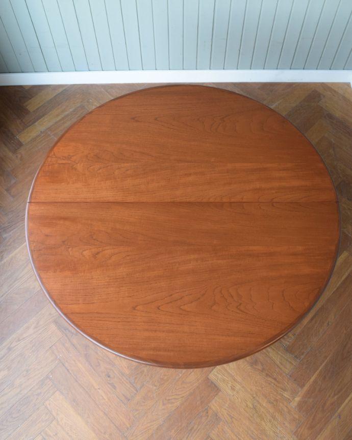 x-1307-f アンティークドローリーフテーブルの天板(閉じた状態)