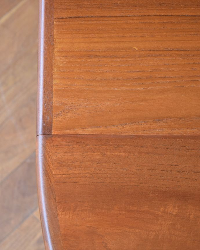 x-1307-f ビンテージダイニングテーブルの天板ズーム
