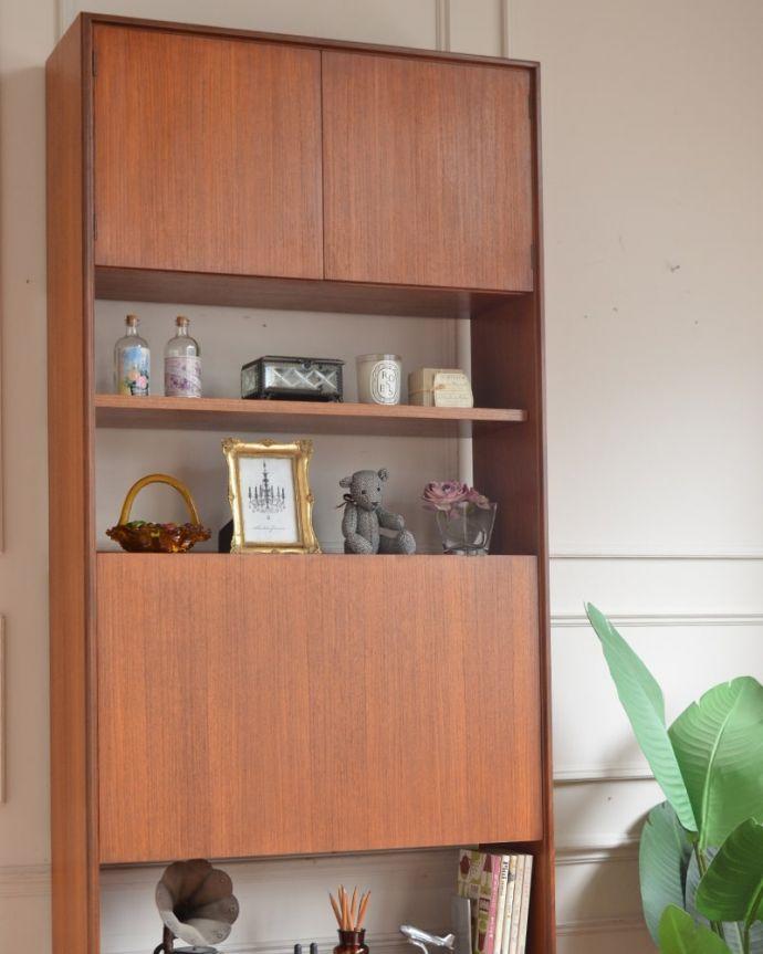 アンティークのキャビネット アンティーク家具 G-planユニットキャビネット ヴィンテージ家具らしいあたたかさ。(x-1399-f)