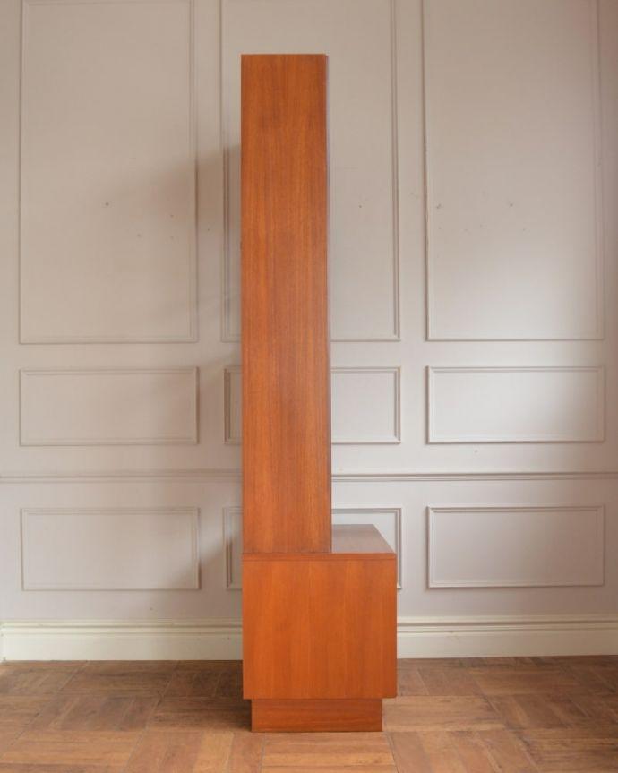 アンティークのキャビネット アンティーク家具 G-planユニットキャビネット 横から見てもスッキリどこから見てもスッキリとしてステキなヴィンテージ。(x-1399-f)