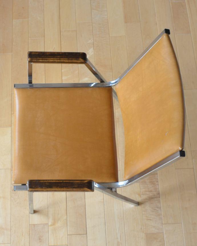 x-428-c アンティークアームチェアの座面