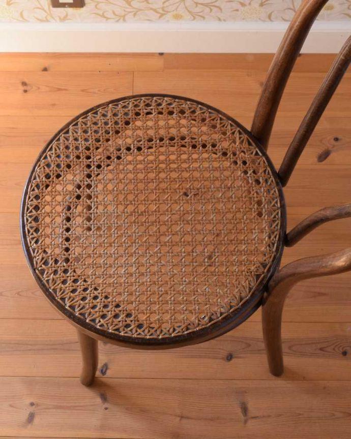 x-483-c アンティークベントウッドチェアの座面